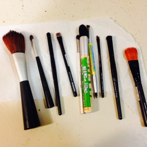 Clean those make-up brushes!